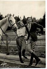 SPORT Equitazione cavallo Fidanzati Vera foto Real Photo PC Viaggiata 1946