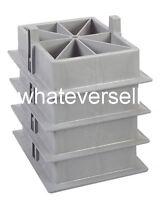 4 x CARAVAN STACKER FEET use as blocks pads stabilisers corner steady steadies