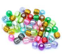 300 Mix Acryl Rocailles Perlen Glasperlen Seed Beads 7x7mm L/P