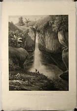 Aquatinte, Iles Célèbes, Indonésie, Rivière de Tondano
