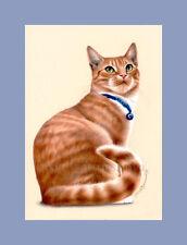Ginger Cat On The Free Spirit Print by I Garmashova