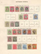 SOUTHERN NIGERIA/SOUTH AUSTRALIA: Ex-Old Time Collection - 2 Sides Page (33135)