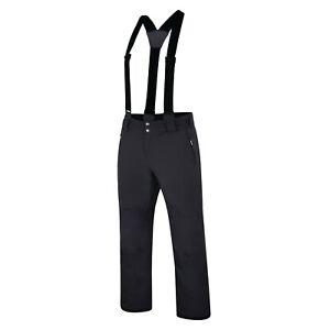 Mens BLACK Dare2b ACHIEVE Stretch Ski Salopettes Pants S - 3XL SHORT LEG