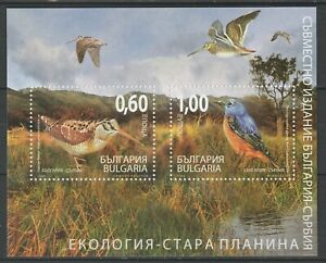 Bulgaria 2009 Birds joint issue Serbia MNH Block
