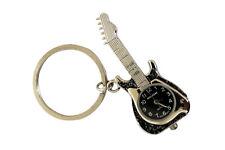 Klox Negro Guitarra Forma Bolsillo Llavero Analógico reloj de bolsillo Cuarzo