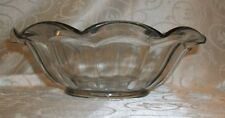 "Vintage Ruffled Scalloped Clear Bowl 8 3/4""D"