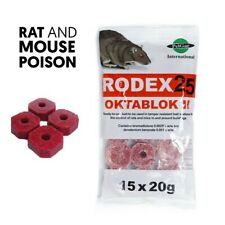 More details for 15 x rodent poison block bait killer strong strength rat & mouse control poison