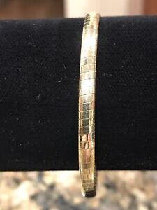 14kt Yellow Gold Omega Bracelet