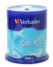 100 Verbatim Rohlinge CD-R Extra Protection 80Min 700MB 52x Spindel 43411