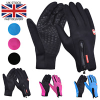 UK Winter Warm Windproof Waterproof Thermal Touch Screen Gloves Anti-Slip
