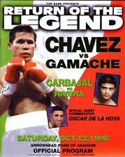 Julio Cesar Chavez vs Gamache Carbajal vs Rivera 1996 Boxing Program w DeLaHoya