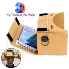Google Cardboard VR Headset Full Kit Magnet +Free VR Videos For 4 -7