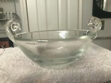 "SUPERB VINTAGE RARE 6 1/4"" Badash Crystal SCROLL HANDLED BOWL All Purpose MINT!!"