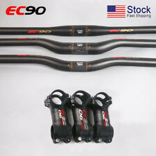 EC90 Carbon MTB Flat Riser Bar 660-760*31.8 Bike Threadless Handlebar Stem 6/17°