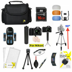 PRO ALL YOU NEED KIT FOR NIKON COOLPIX L340 B500 TRIPOD/ CASE/ MEMORY/ GRIP 23PC