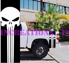 Skull Punisher GMC Dodge Toyota Bed Racing Stripes 4x4 Truck Decals Stickers