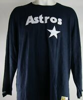 Houston Astros MLB Mitchell and Ness Men's Long Sleeve Shirt
