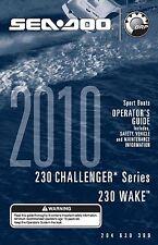 Sea-Doo Owners Manual Book 2010 230 CHALLENGER & 230 WAKE