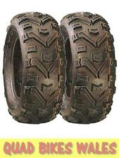 Pair Of Duro Buffalo Quad Tyres 25x8x12 E Marked Road Legal 6 Ply