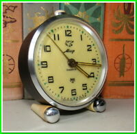 Soviet Vintage Slava Alarm Clock USSR 1962~Perfect Condition #23214