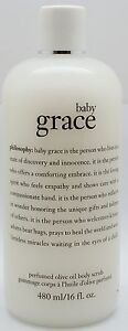 PHILOSOPHY BABY GRACE PERFUMED OLIVE OIL BODY SCRUB 16 OZ NEW (SEE FULL DETAILS)