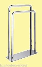 moderner Handtuchständer verchromtes Metall 2 Stangen      032602