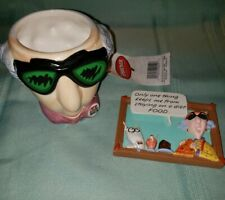 Hallmark Shoebox Maxine Nwt Mug and Euc Maxine W/Floyd Diet Magnet Set