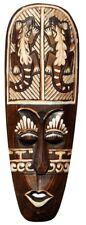 Schöne 50 cm Wand Maske Gecko Gekko Tribal Maori Holz Tier Afrika Maske 61