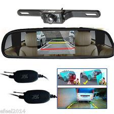 """Wireless Car Rear View Backup Parking IR Night Vision Camera HD+4.3"""" LCD Monitor"""
