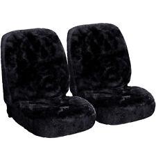 2x Lammfellbezug echt Lammfell Sitzbezug universal sitzbezug schwarz AS7334sz-2