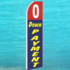 0 Zero Down Payment Flutter Flag Used Cars Sign Feather Swooper Banner 1205