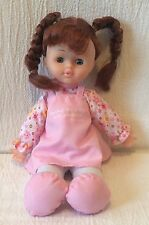 """12"""" Toysmith Doll Red Braids Worship The Lord With Gladness Dress"""