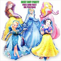 "37"" Disney Princess Foil Balloons Birthday Party Decoration Supplies Girls"