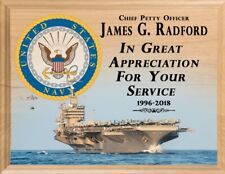 NAVY RETIREMENT Plaque PERSONALIZED Navy Service Appreciation Sign Award