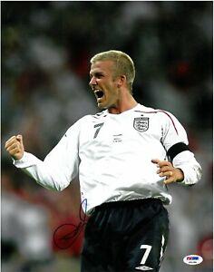 David Beckham England vs Brazil Signed 11x14 Photo Autographed PSA/DNA COA