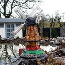 GARTENWINDMÜHLE LUISE 65 cm Garten Deko Mühle braun Windmühlen Dekoration