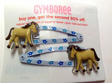 Gymboree Malibu Cowgirl line Barrette/Clip NWT Snap Girl Horse Pony Hair Blue