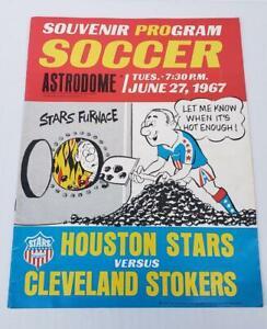 1967 United Soccer Association Program Houston Stars Cleveland Stokers Program