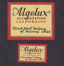 Anciennes  étiquettes Allumettes Belgique BN22569 Algux Luxembourg