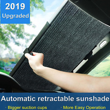 130x46cm Car SUV Retractable Curtain UV Protection Front Windshield Sun Visor
