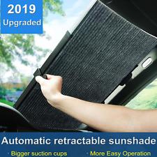 130x46cm Car SUV Retractable Curtain UV Protection Front Windshield Sun Visor