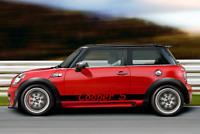 2x Seitenstreifen Mini Cooper S schwarz matt oder Wunschfarbe