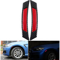 Red+Black Reflective Car Warning Stickers Self-adhesive Tape Bumper Strips Safe