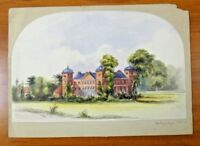 """Original Hallisbury Chase Watercolor Art Signed and Dated 1853 9"""" x 14"""""""