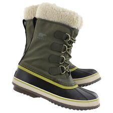 New Womens Sorel Winter Carnival Peatmoss Waterproof Leather Boot -32F Size 6