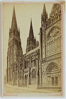 Cattedrale Madonna Di Bayeux Carta Armadio Vintage Albumina Ca 1885