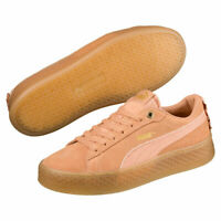 Puma Smash Platform Frill Damen Plateau Sneaker apricot Suede Neu! OVP