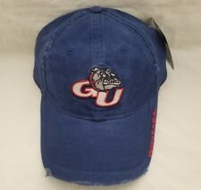 6db232bfb55 Navy Blue NCAA Gonzaga Bulldogs Pre-distressed Embroidered Hat Buckle Back  Cap