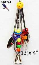 Spoon With Fun Pet Bird Parrot Cage Toy Macaw African Grey Amazon Cockatoo