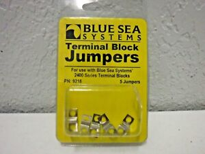 Blue Sea Systems Nickle Plated Brass Terminal Block Jumpers  # 9218 (5 Jumpers)
